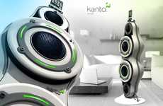 Swelling Apple Speakers - The Kanto Morph iPod Dock Undulates with Audio Emission