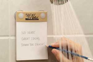 These Aqua Notes Waterproof Notepads Lets You Write in the Shower