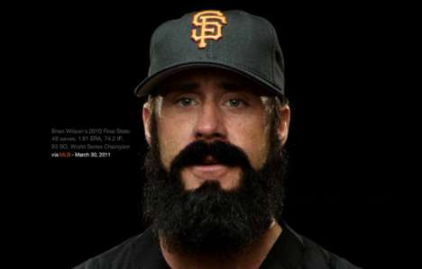 Facial Hair Exploration - MLB.com Lets You Explore World Series Champion Brian Wilson