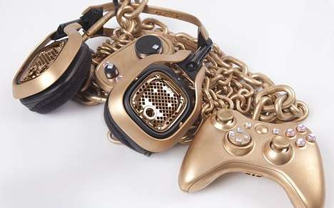 Midas Touch Controllers - These Golden Xbox Gaming Accessories are Luxuriously Fun