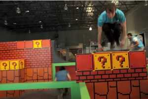 The Tempest Freerunning Academy has a Super Mario Motif