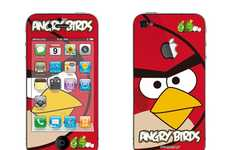 Avian-Themed Decals - The Full Body Angry Birds iPhone 4 Decals Fully Encompass Your Phone