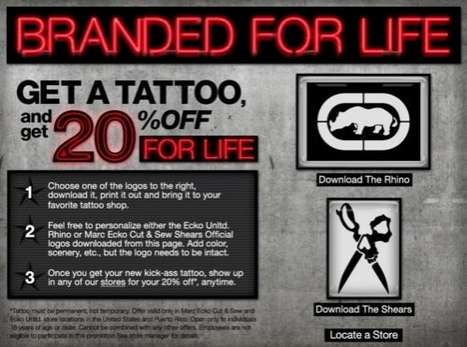Inked Discounts - Join the Marc Ecko 'Branded For Life' Campaign and Get 20% Off for Life