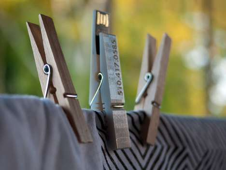 Clothespin Flash Drives - The MemoryPin USB Stick is Doubly Useful for Laundry and Tech Situations