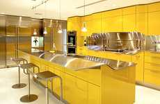 Canary-Colored Cuisines - The Venus Kitchen by Snaidero Will Color Your Culinary Space Happy