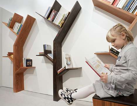 Booktree Shelf by Kostas Syrtariotis