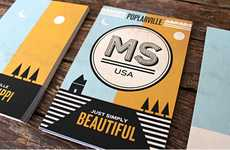 Delightful Stationery Designs - These Poplarville Postcards Extend Southern Hospitality