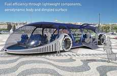 Amphibious Public Transit - The SKhy Bus Concept Aims to Clean Up the Urban Environment