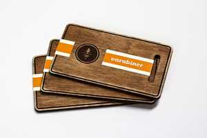 These Carabiner Business Cards Have a Tactile Timber Appeal