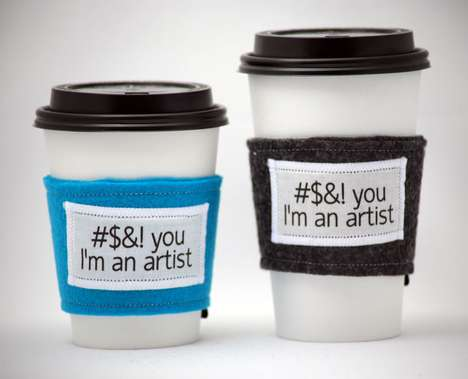 Sassy Coffee Sleeves - These Hilarious Cussing Cozies are Sure to Spice Up Your Morning Cup of Joe