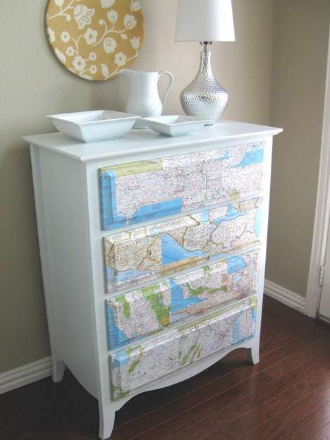 Topographical Bedroom Furniture - Map Dresser by Kristen Campbell is a Personalized Family History