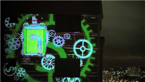 Illuminated Street Animation - The Vjsuave MTV Brasil Clip Brings Graphics to Real Life