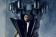 Futuristic V-Shaped Fashion