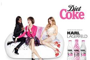The Karl Lagerfeld Diet Coke 2011 Campaign is Pretty in Pink