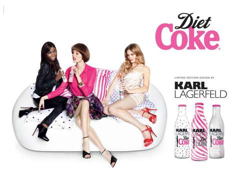 Couture Cola Campaigns - The Karl Lagerfeld Diet Coke 2011 Campaign is Pretty in Pink
