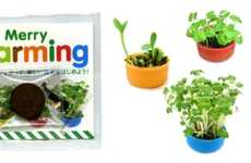 Bottle Cap Planters - The Merry Farming Kit Lets You Grow Basil in the World's Tiniest Planter