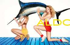 Swordfish Fashion Ads - Lily Donaldson Plays With Props in the Aldo Spring 2011 Campaign