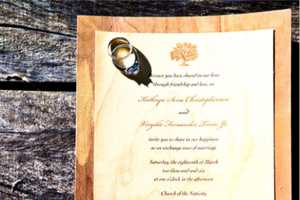 Cards of Wood Wedding Invitations Have a Warm Natural Charm