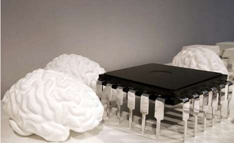 Brain Microchip Coffee Table