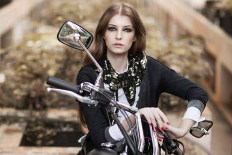 Gorgeous Gangster Spreads - The Shoulder AW11 Campaign Brings Biker Glam to the Greenhouse