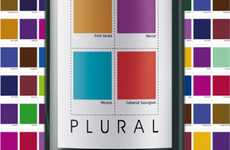 Color Swatch Liquor Labels - Plural Wine Packaging Flaunts the Flavor of Color