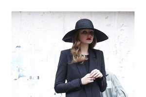 Eniko Mihalik T Magazine Spread Suit Up for City Strolling