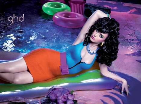 Super Saturated Celebs - The ghd Katy Perry Campaign is a Blast From the Past