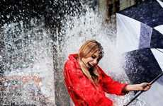 Elyse Saunders Gets Drenched for Elle Italia April 2011
