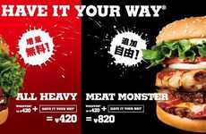 Meat-Lover Burgers - Burger King Introduces the Massive Meat Monster Whopper