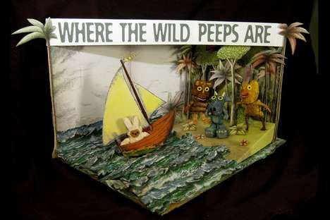 Holiday Dessert Dioramas - Washington Post's Annual Peeps Show IV Celebrates Easter Right