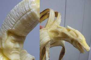 A Japanese Artist Creates Unique Banana Sculptures