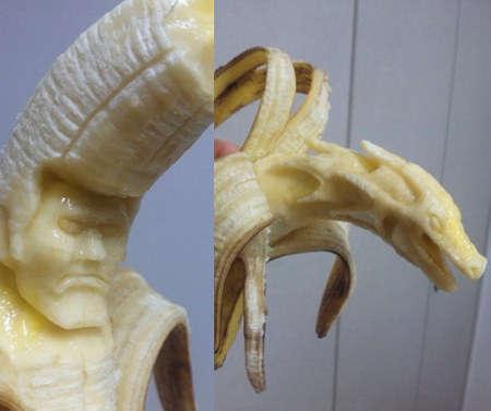 Creepy Fruit Carvings