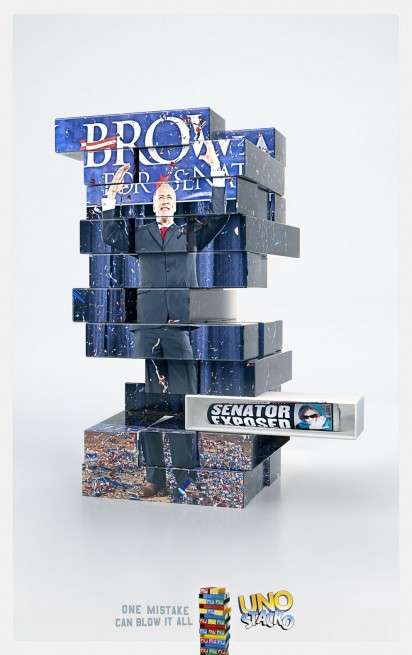 "Jenga-Mimicking Games - The Uno Stacko Ad Campaign Shows That ""One Mistake Can Blow It All"""
