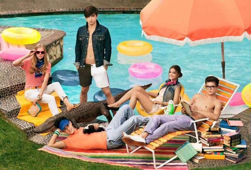 Preppy Poolside Fashion
