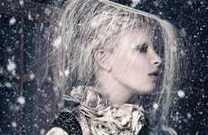 Silver Snowflake Spreads - Queen by Bronwyn Kidd Captures Fresh Fashions of Cool Couture