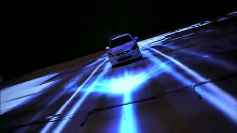 Off the Wall Auto Ads - The Hyundai Accent 3D Project Mapping Video Spotlights the 2012 Accent