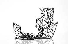 Futuristic Sculptural Bookcases