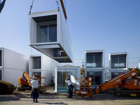 Post-Quake Container Houses - Ex-Container Project Provides Japan Earthquake Survivors a New Home