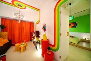 The Rainbow House in Hong Kong by Max Lam Boasts a Brilliant Interior
