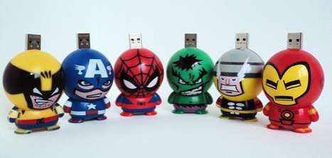 Superhero USB Flash Drives