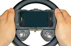 IPhone Game Accessories - The iPhone Steering Wheel Takes a Tip From the Wii