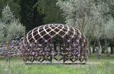 Latticed Rotundas - David Trubridge Presents the Dream Space Dome, a Quiet Place to Relax in Nature