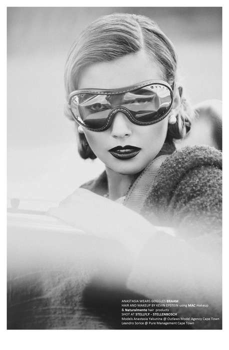 Glamorous Aviation Editorials - Up in the Air by Marco Trunz Mixes Pilot Swagger with Retro Style