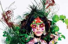 The Tati Cotliar T Magazine Series by Richard Burbridge is Full of Florals