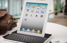 Tablet Typewriter Add-Ons - The Logitech iPad Keyboard Case Transforms Your Gadget Into a Laptop