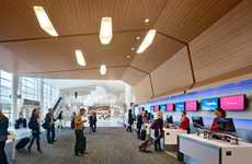 Social Media Airports - The Virgin America San Francisco Terminal Checks-In on Foursquare & Facebook