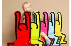Pop Art Furniture - The Keith Haring Chair is Perfect for the Young and Young at Heart