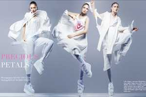 Naty Chabanenko Dons All-White Outfits for Vestal April 2011