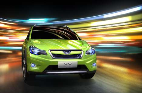 Glass-Roofed Family Cars - The Subaru XV Concept Crossover is Electrifyingly Awesome