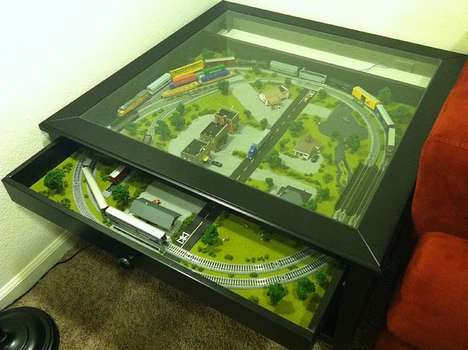 train, coffee, table, design